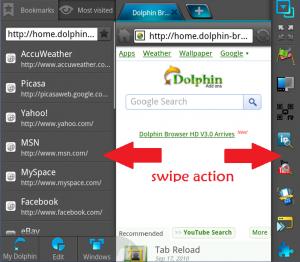 Swipe Action
