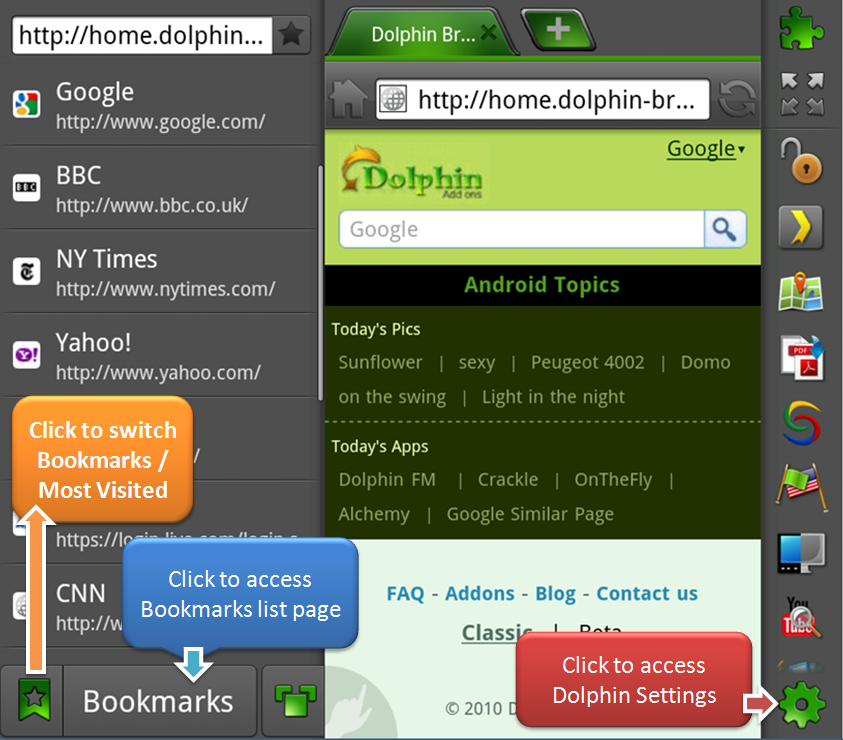 Dolphin Browser HD v4 0 Finally Released to Android Market