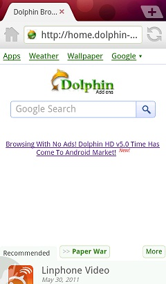 Dolphin Theme: Red - Dolphin Browser for Android, iOS  Free