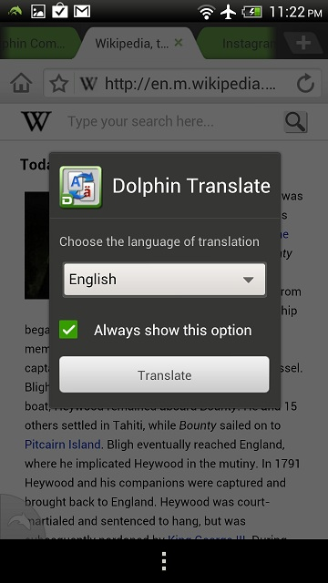 Dolphin Translate - Dolphin Browser for Android, iOS  Free