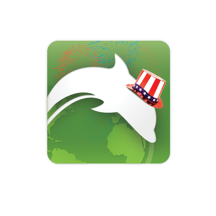 Dolphin Fourth of July Logo