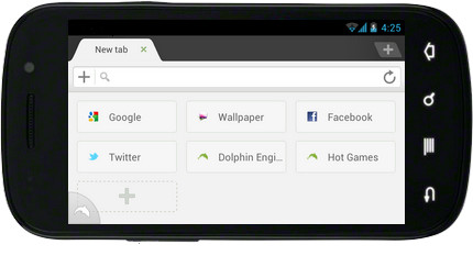 Dolphin Browser Beta v1.0.7