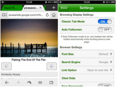 Dolphin Browser for iPhone v6 1: iPhone 5 Compatible, Tabs